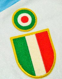 Shirt Scudetto and Coppa Italia Emblems, Lazio 2000-2001 Home Centenary
