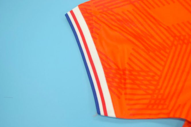 Shirt Sleeve Closeup, Netherlands Euro 1992 Home Short-Sleeve