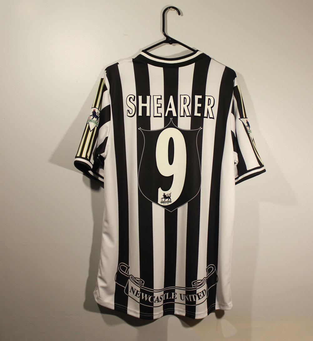 Shearer 9 Premier league Football Name set for Newcastle Away Home Shirt felt