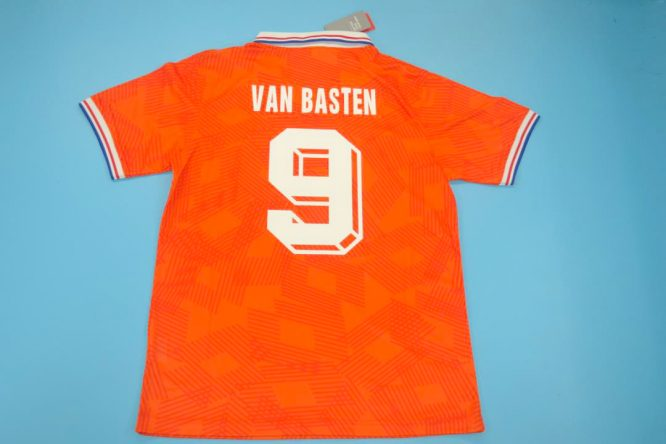 Van Basten Nameset, Netherlands Euro 1992 Home Short-Sleeve