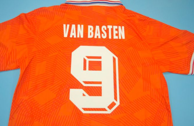 Van Basten Nameset Alternate, Netherlands Euro 1992 Home Short-Sleeve