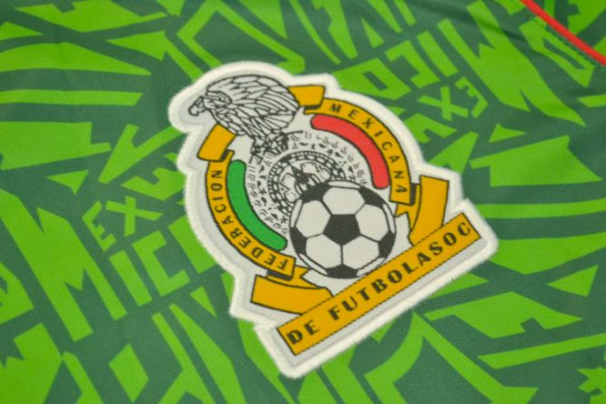 Shirt Mexico Emblem, Mexico 1994 Home Short-Sleeve
