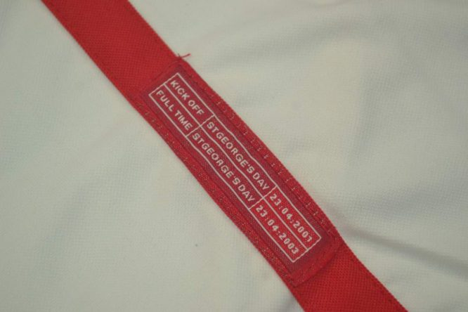 Shirt Mini-Patch, England 2002 Home Short-Sleeve