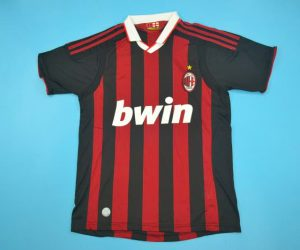 Ahirt Front, AC Milan 2009-2010 Home Short-Sleeve