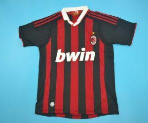 Ahirt Front, AC Milan 2009-2010 Home Short-Sleeve