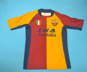 Shirt Front, AS Roma 2001-2002 European Edition Short-Sleeve