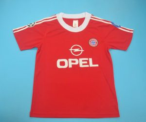 Shirt Front, Bayern Munich 2000-2001 Home Champions League Short-Sleeve