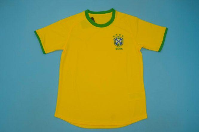 Shirt Front, Brazil 2000-2002 Home Short-Sleeve