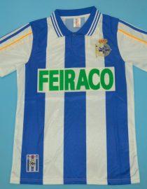Shirt Front, Deportivo La Coruna 1999-2000 Home Short-Sleeve