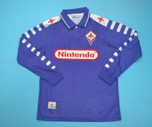 Shirt Front, Fiorentina 1998-1999 Home Long-Sleeve