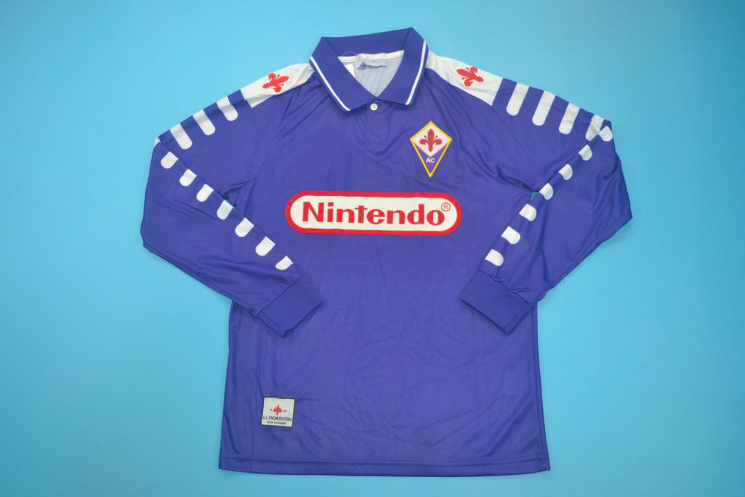 Fiorentina 1998 99 Home Long Sleeve Nintendo Jersey Free Shipping