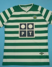 Shirt Front, Sporting Lisbon Home Short-Sleeve