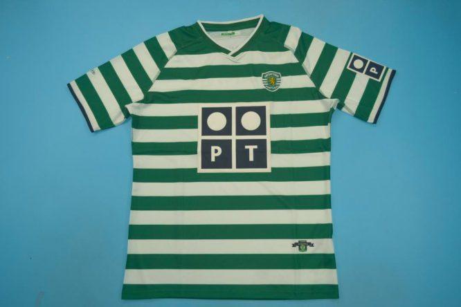 Shirt Front, Sporting Lisbon Home Short-Sleeve