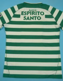 Shirt Back Blank, Sporting Lisbon Home Short-Sleeve