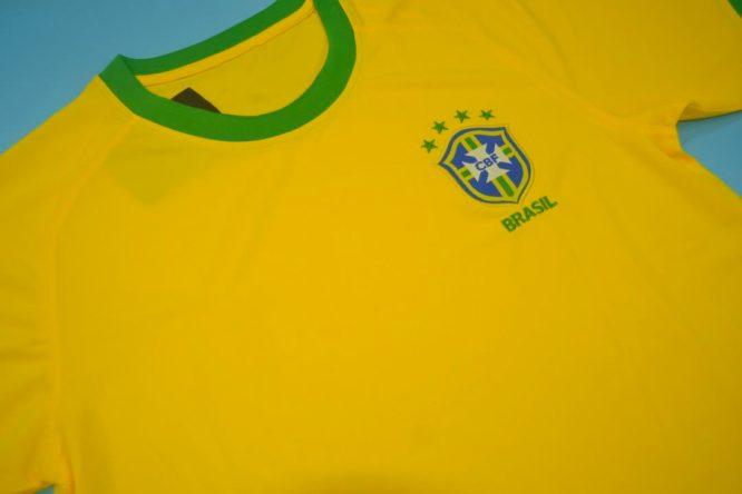 Shirt Front Alternate, Brazil 2000-2002 Home Short-Sleeve