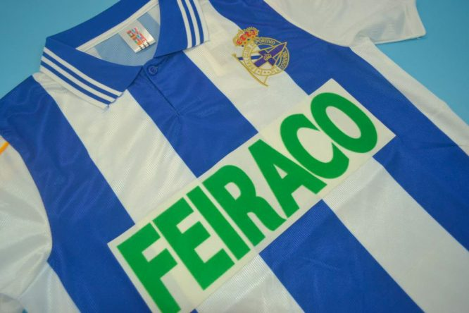 Shirt Front Alternate, Deportivo La Coruna 1999-2000 Home Short-Sleeve