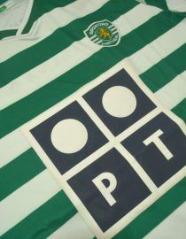 Shirt Front Alternate, Sporting Lisbon Home Short-Sleeve