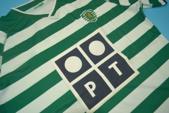 Shirt Front Alternate, Sporting Lisbon Home Short-Sleeve