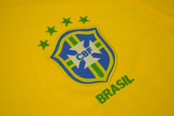 Shirt Brazil Emblem, Brazil 2000-2002 Home Short-Sleeve