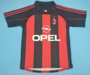 Shirt Front, AC Milan 2000-2002 Home Short-Sleeve