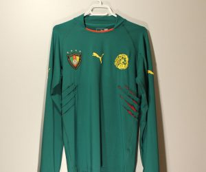Shirt Front, Cameroon 2004-2006 Home Player-Issue Long-Sleeve