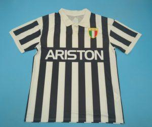 Shirt Front, Juventus 1984-1985 Home Short-Sleeve