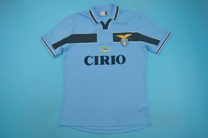 Shirt Front, Lazio 1999-2000 Home Short-Sleeve