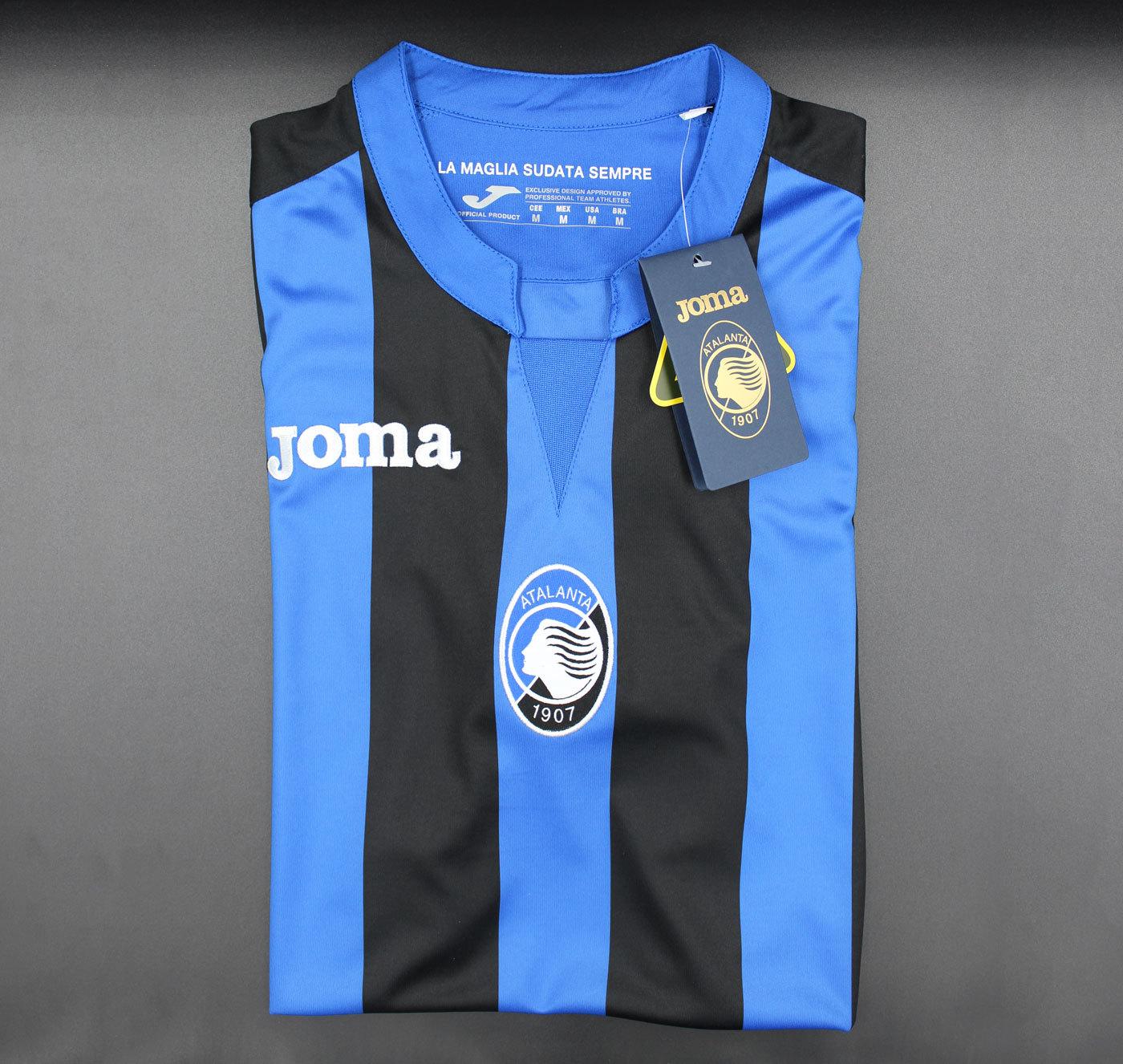 Atalanta B.C. 2018-2019 Home Short Sleeve Football Jersey - Size M [As worn by Iličić, Gómez & Zapata]