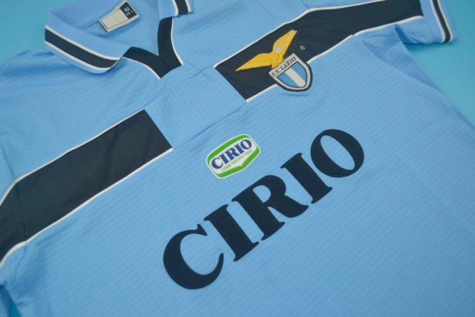 Shirt Front Alternate, Lazio 1999-2000 Home Short-Sleeve