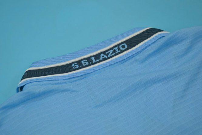 Shirt Collar Back, Lazio 1999-2000 Home Short-Sleeve