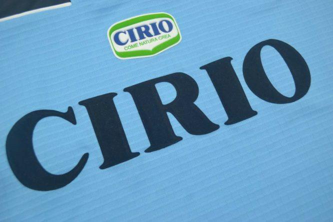 Shirt Cirio Emblem, Lazio 1999-2000 Home Short-Sleeve