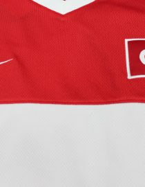 Shirt Front Nike & Turkey Emblems, Turkey 2008 Home Short-Sleeve