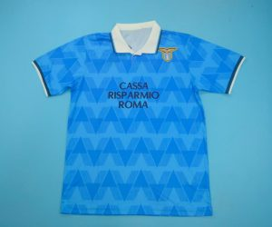 Shirt Front, Lazio 1989-1991 Home Short-Sleeve