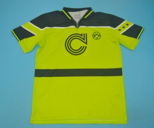 Shirt Front, Borussia Dortmund 1996-1997 Champions League Final Home Short-Sleeve