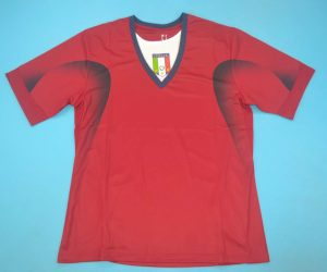 Shirt Front, Italy 2006 Goalkeeper Away Red Buffon Short Sleeve