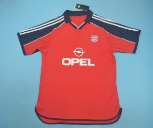 Shirt Front, Bayern 1999-2001 Home Short-Sleeve