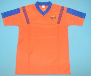 Shirt Front, Barcelona 1991-1992 Away Orange Short-Sleeve