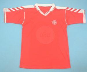 Shirt Front, Denmark 1998 Home Red Short-Sleeve