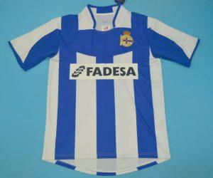 Shirt Front, Deportivo La Coruna 2003-2004 Home Short-Sleeve