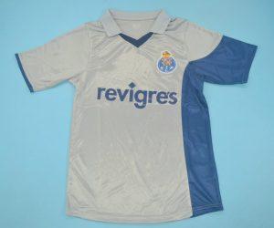 Shirt Front, FC Porto 2001-2002 Away Gray Short-Sleeve