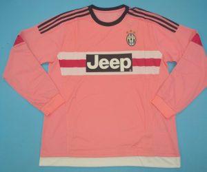 Shirt Front, Juventus 2015-2016 Third Rose Long-Sleeve