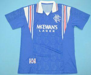 Shirt Front, Rangers 1996-1997 Home Short-Sleeve