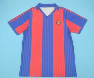 Shirt Front, Barcelona 1991-1992 Home Short-Sleeve