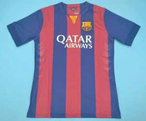 Shirt Front, Barcelona 2014-2015 Home Short-Sleeve