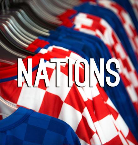 Nations Retro Football Jerseys