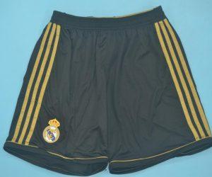 Shorts Front, Real Madrid 2011-2012 Away Black Shorts