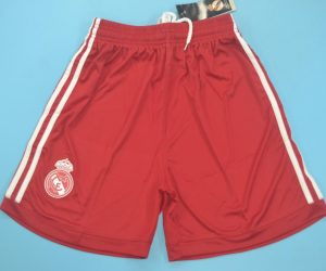 Shorts Front, Real Madrid 2011-2012 Third Red Shorts