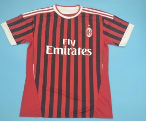 Shirt Front, AC Milan 2011-2012 Home Short-Sleeve