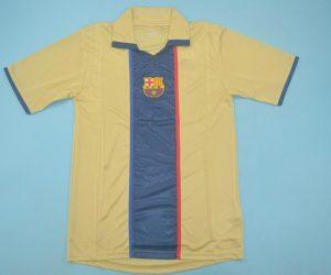 Shirt Front, Barcelona 2001-2003 Away Short-Sleeve