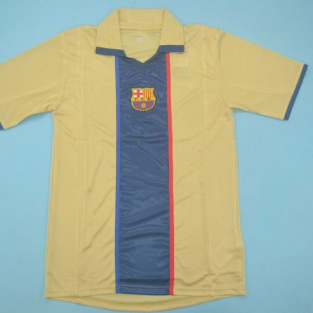 FC Barcelona 2001-2003 Away Short Sleeve Football Shirt [As worn by de Boer, Kluivert & Rivaldo]
